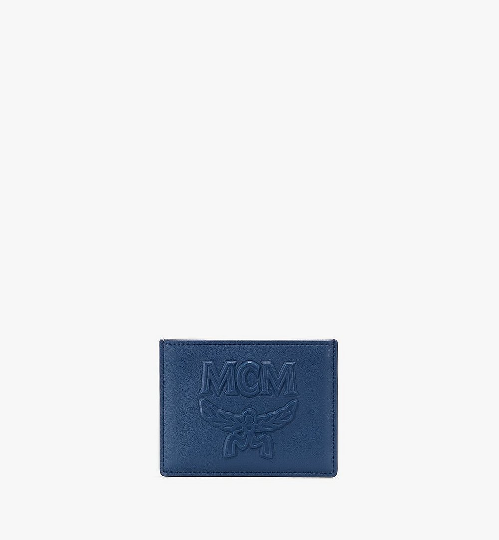 MCM Coburg Card Holder in Injection Leather Blue MXA9ACE23VS001 Alternate View 1