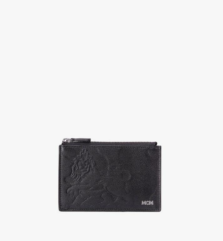 MCM Coin Card Holder in Embossed Lion Camo Alternate View