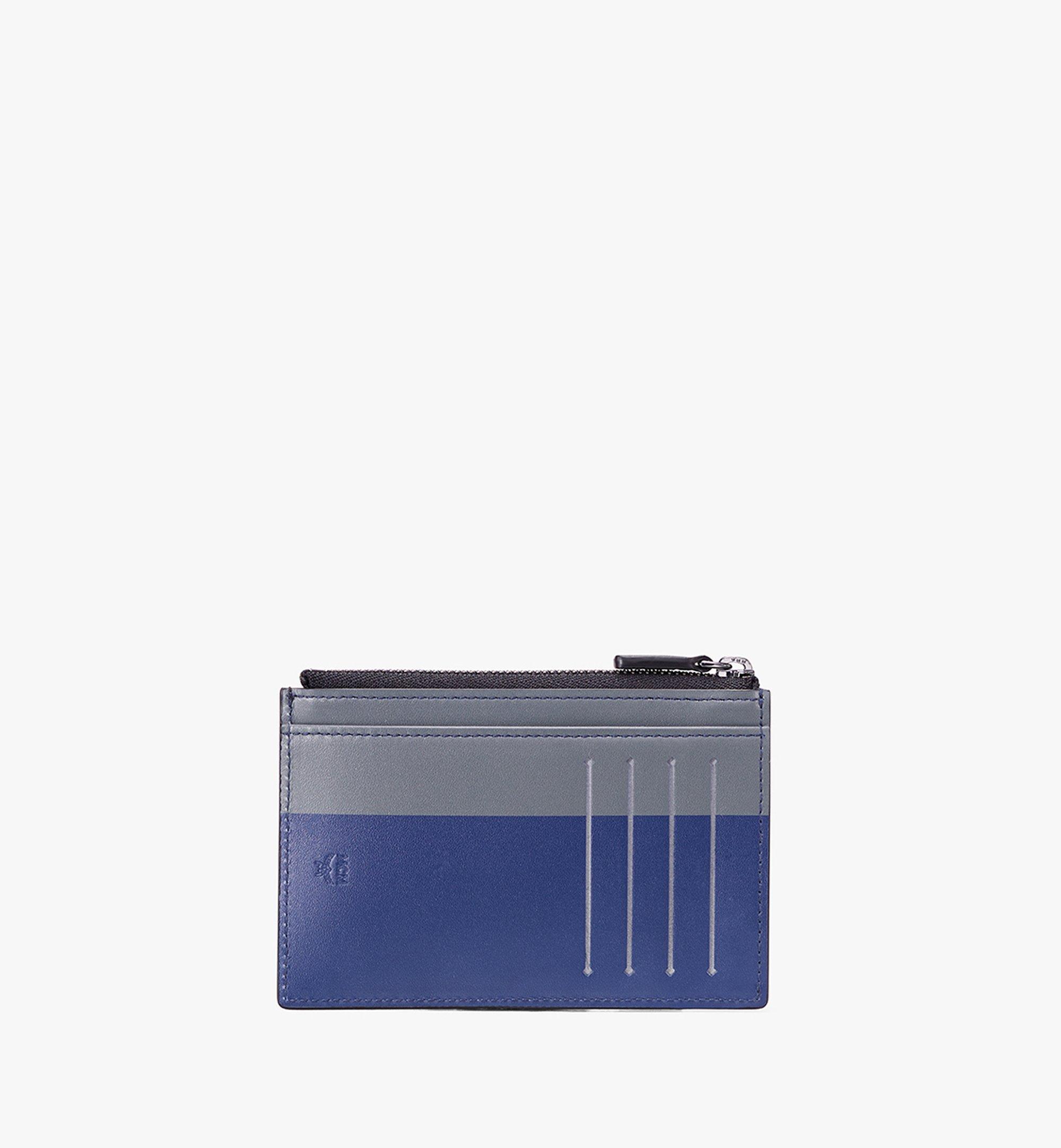 MCM Coin Card Holder in Embossed Lion Camo Black MXA9AES14BK001 Alternate View 2