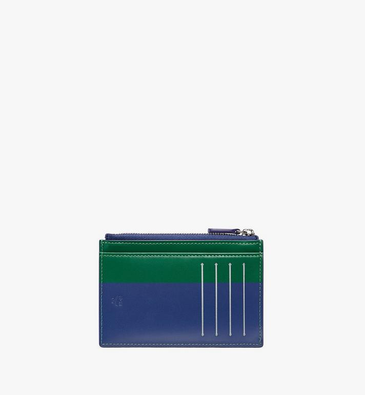 MCM Coin Card Holder in Embossed Lion Camo Blue MXA9AES14VE001 Alternate View 2