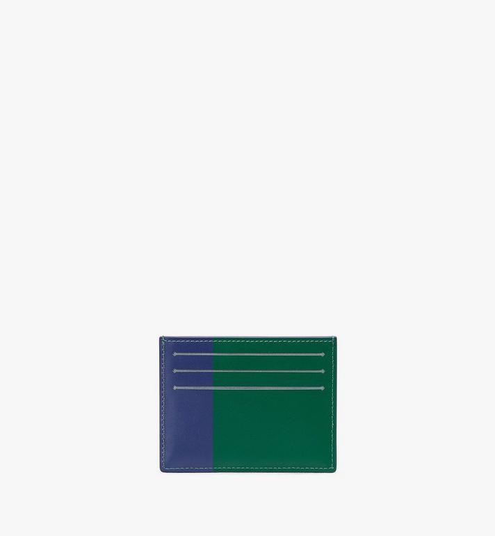 MCM Card Holder in Embossed Lion Camo Blue MXA9AES16VE001 Alternate View 2