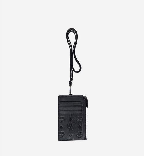 Lanyard Card Holder in Monogram Leather