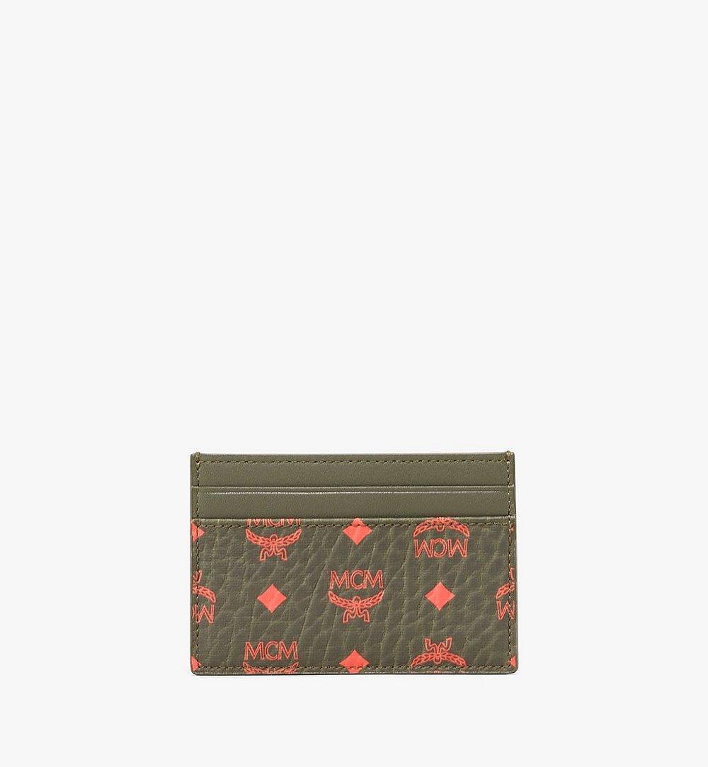 MCM Card Case in Visetos Green MXA9AVI42G8001 Alternate View 1