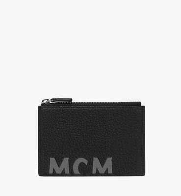 Coin Card Wallet in Logo Print Leather