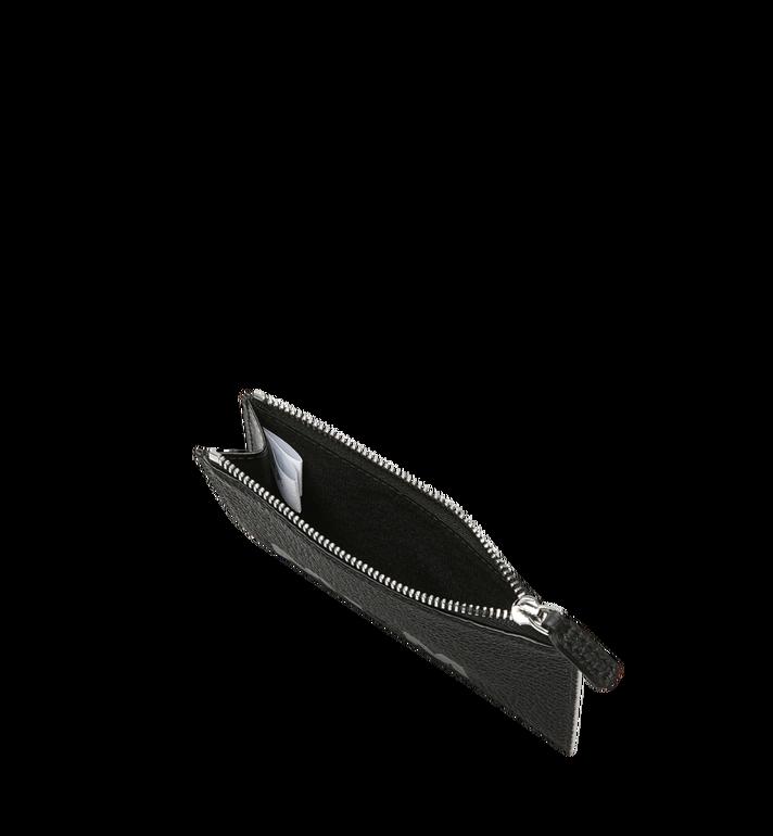 MCM Porte-cartes à fermeture éclair en cuir à logo imprimé Black MXA9SBM05BK001 Alternate View 4