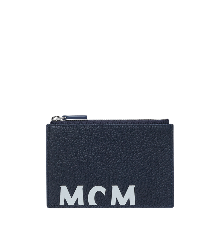 MCM Coin Card Wallet in Logo Print Leather Alternate View