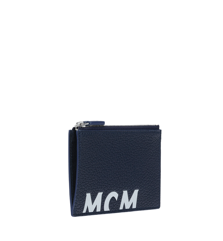 MCM Coin Card Wallet in Logo Print Leather Alternate View 2