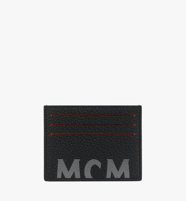 Card Case in Logo Print Leather