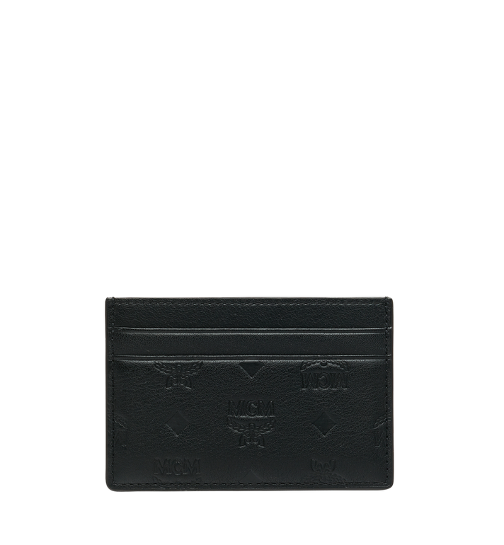 MCM Card Case in Monogram Leather Black MXA9SKM43BK001 Alternate View 3