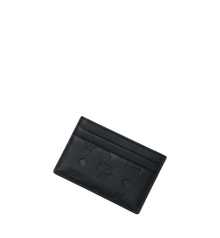 MCM Card Case in Monogram Leather Black MXA9SKM43BK001 Alternate View 4