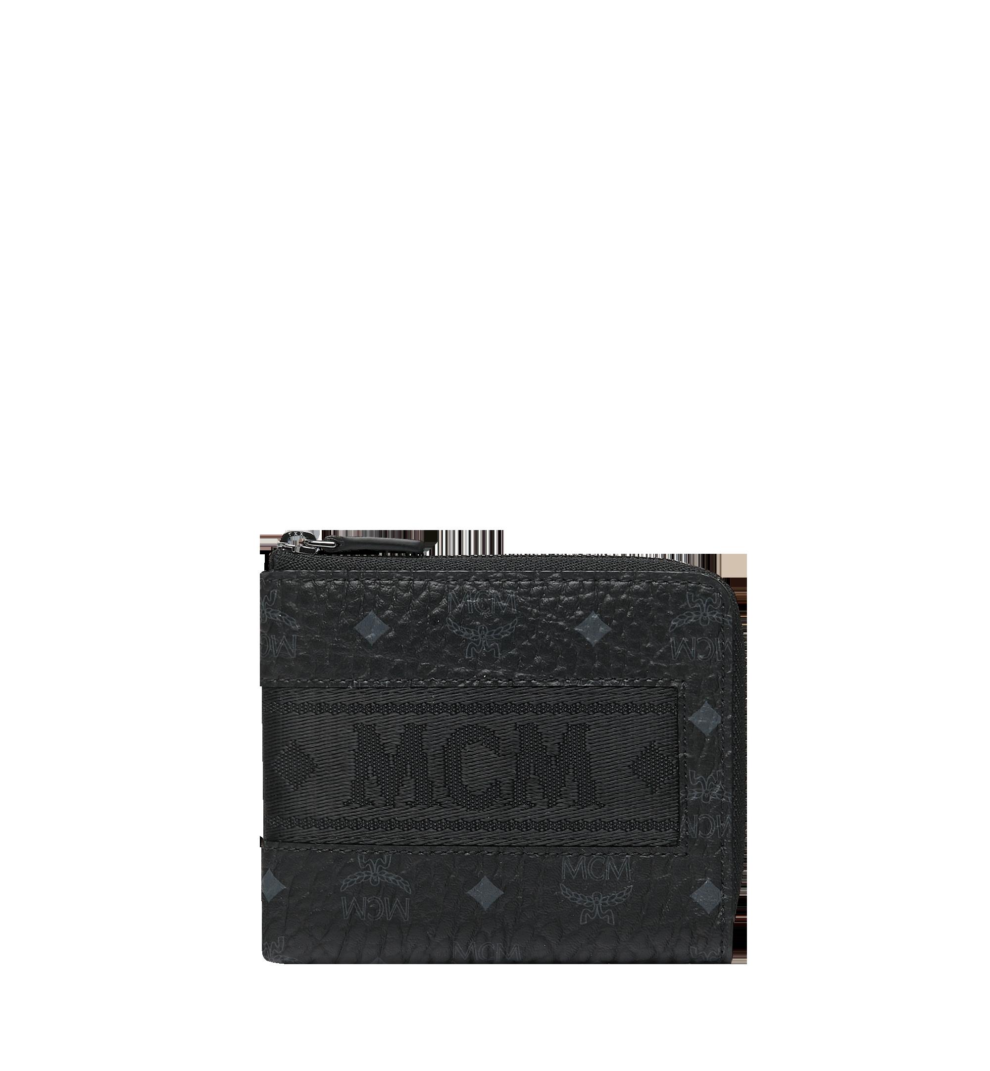 MCM 비세토스 오리지널 웨빙 커브드 지퍼 동전지갑 Black MXA9SVI91BK001 Alternate View 1