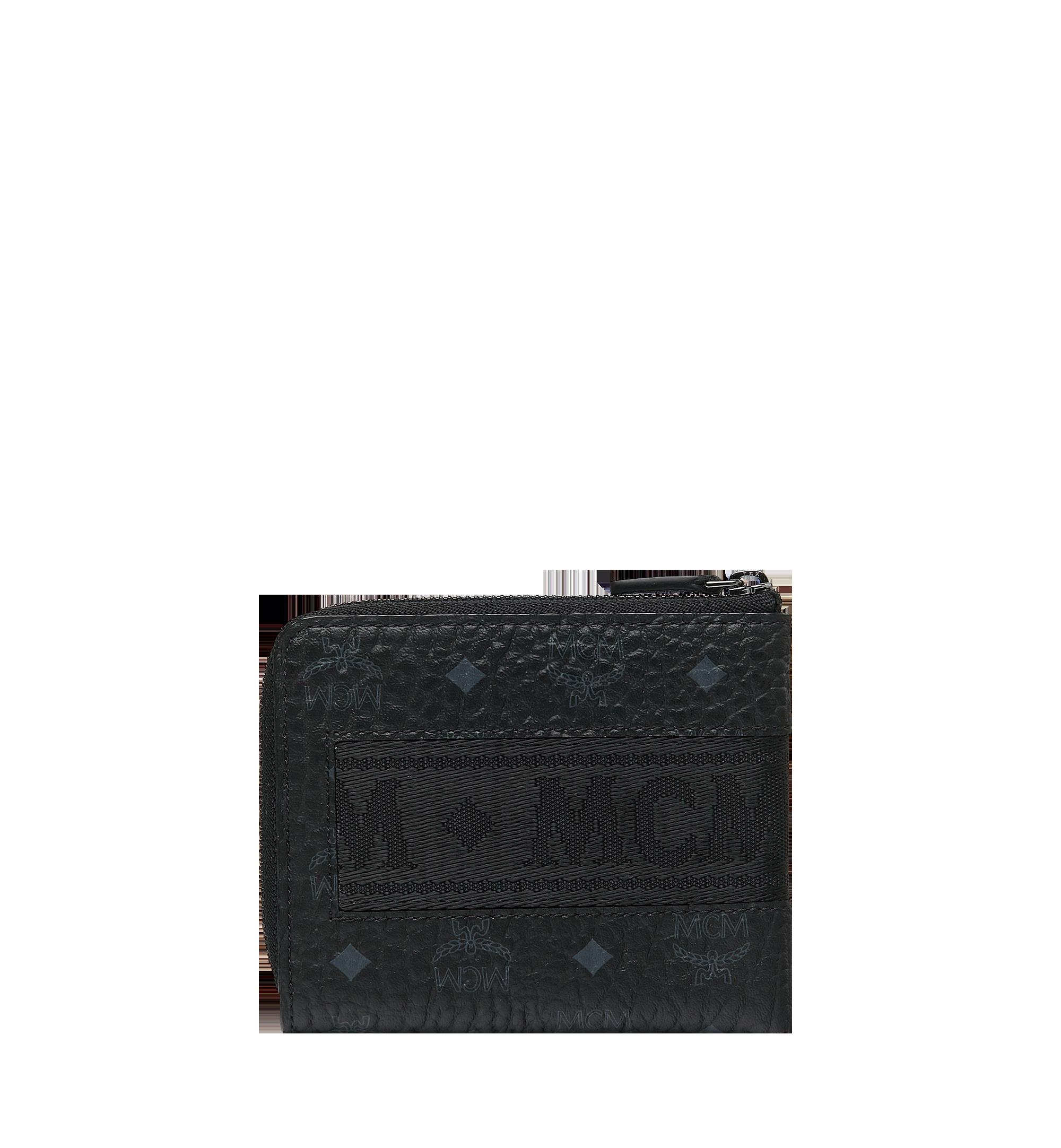 MCM 비세토스 오리지널 웨빙 커브드 지퍼 동전지갑 Black MXA9SVI91BK001 Alternate View 3