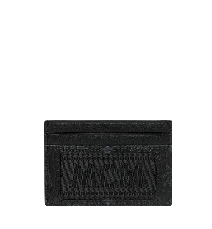 MCM Card Case in Webbing Visetos MXA9SVI92BK001 AlternateView