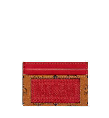 MCM Card Case in Webbing Visetos Alternate View 1