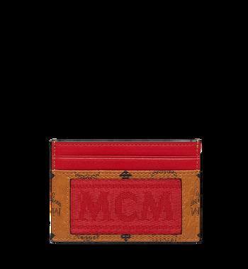 MCM Card Case in Webbing Visetos MXA9SVI92CO001 AlternateView