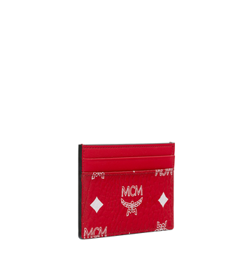 MCM Card Case in White Logo Visetos Alternate View 2