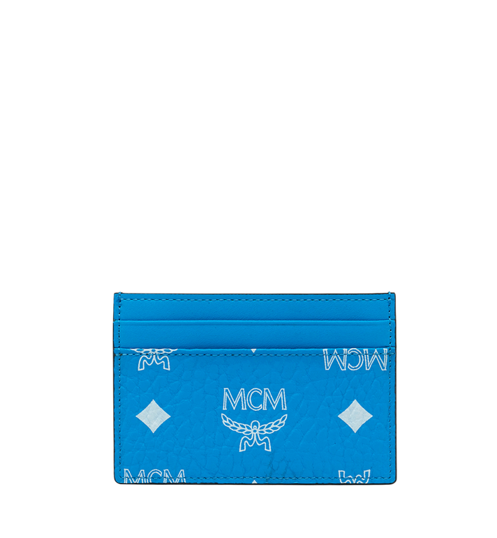MCM Card Case in White Logo Visetos Alternate View