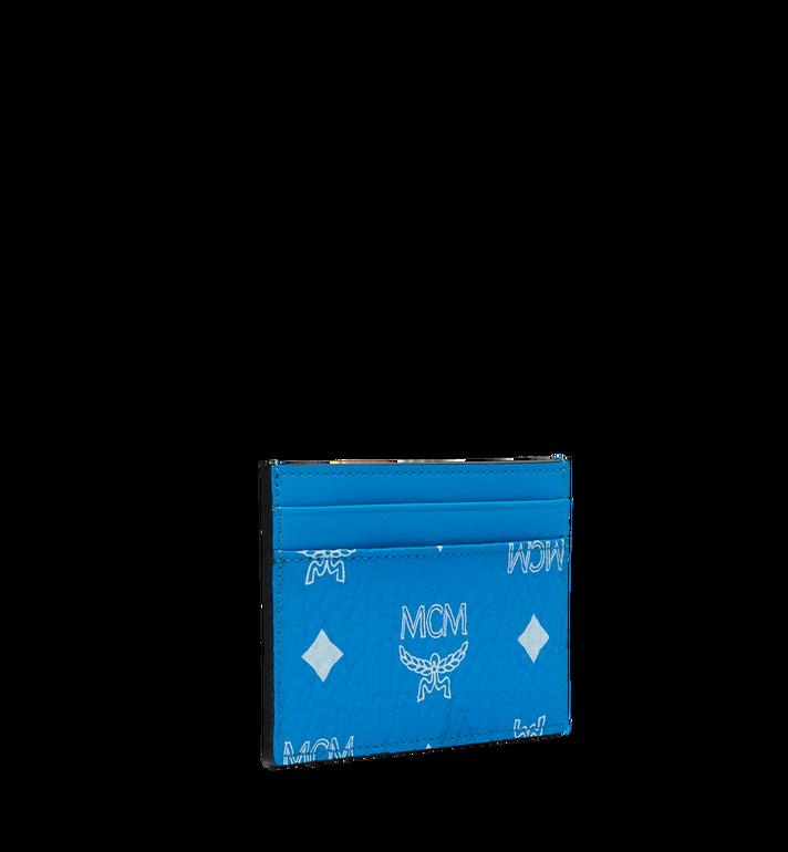 MCM Card Case in White Logo Visetos AlternateView2