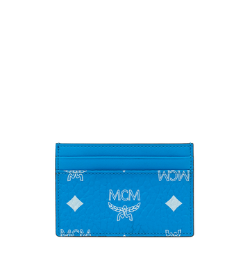 MCM Card Case in White Logo Visetos Alternate View 3