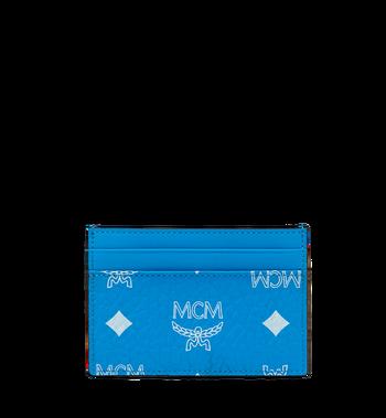 MCM Card Case in White Logo Visetos AlternateView3