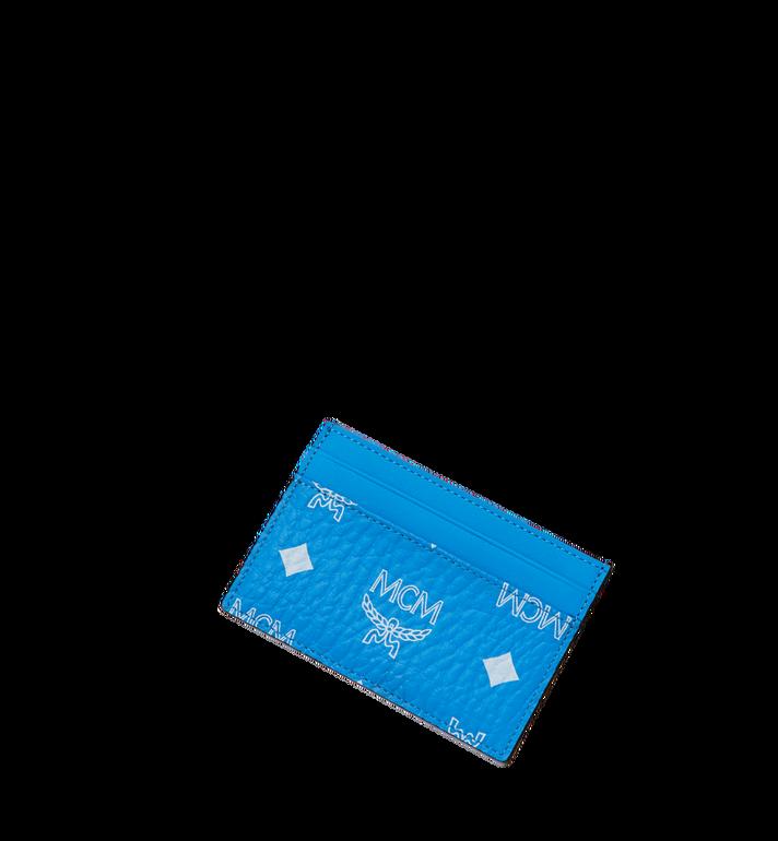 MCM Card Case in White Logo Visetos AlternateView4