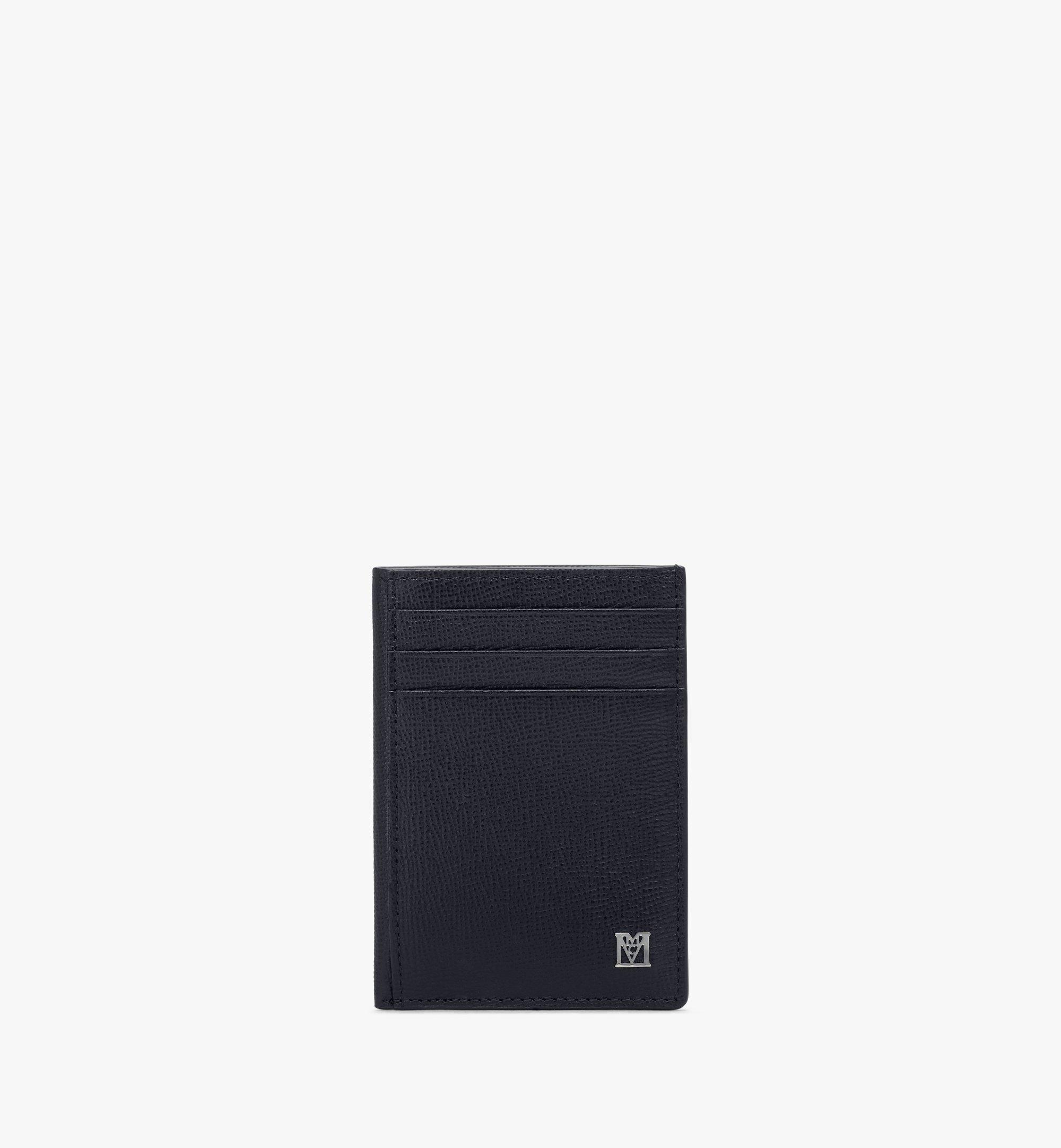 MCM Mena N/S Card Case Black MXAAALM03BK001 Alternate View 1