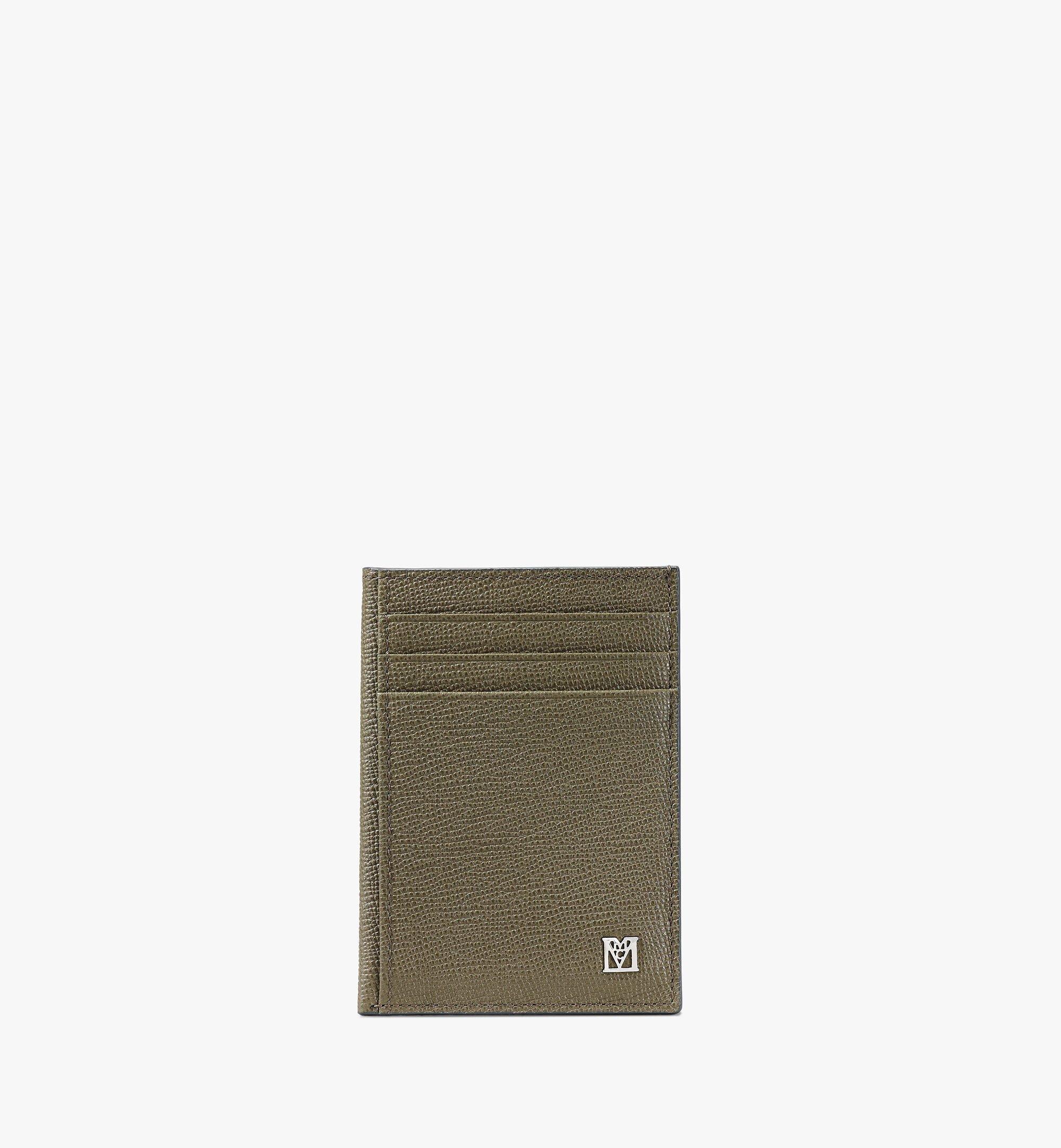 MCM 〈メーナ〉N/S カードケース Green MXAAALM03JH001 ほかの角度から見る 1