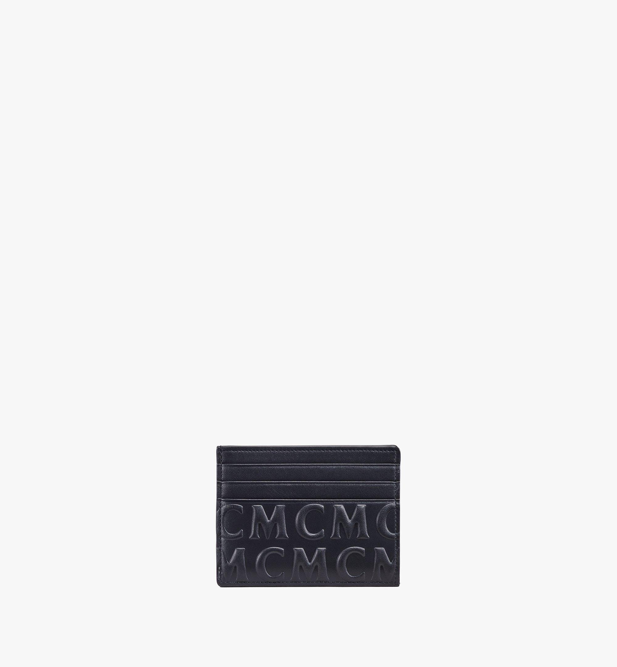 MCM Card Case in MCM Monogram Leather Black MXAAAMD01BK001 Alternate View 1