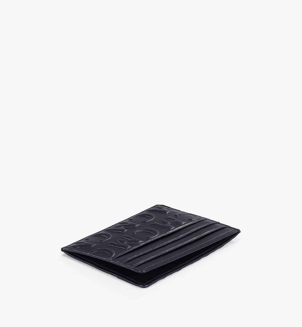 MCM Card Case in MCM Monogram Leather Black MXAAAMD01BK001 Alternate View 1