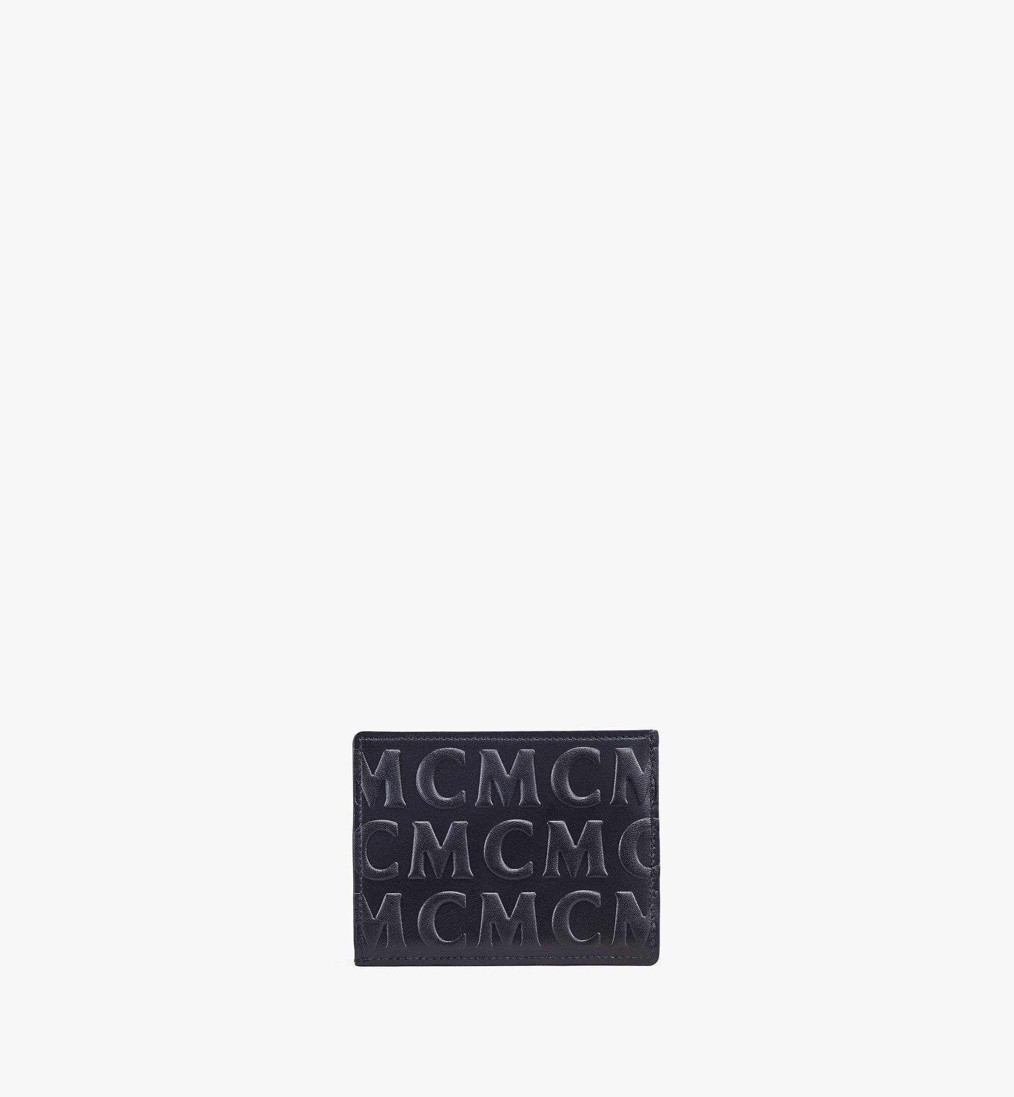 MCM Card Case in MCM Monogram Leather Black MXAAAMD01BK001 Alternate View 2