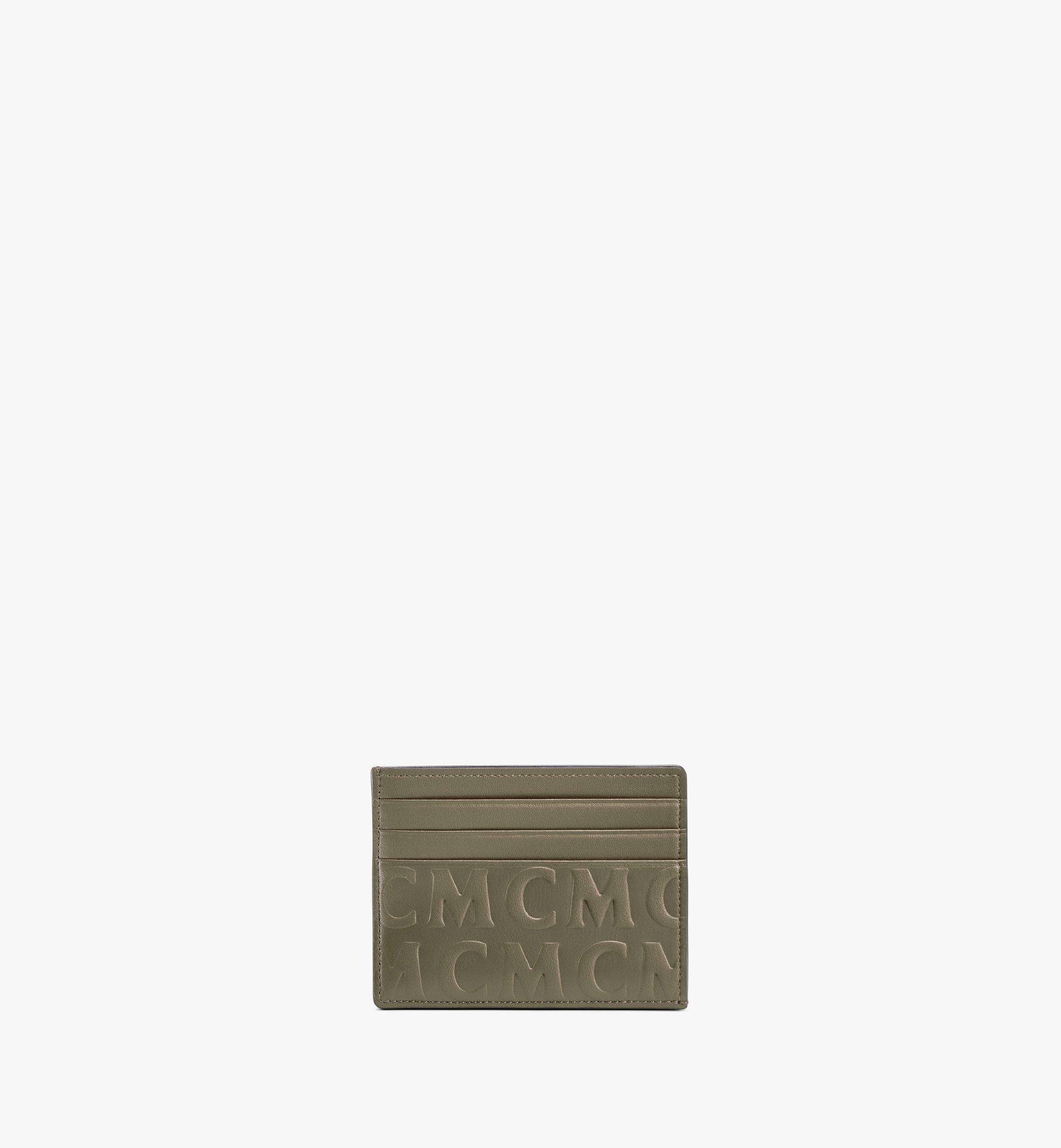 MCM Kartenetui aus Leder mit MCM-Monogramm Green MXAAAMD01JH001 Noch mehr sehen 1