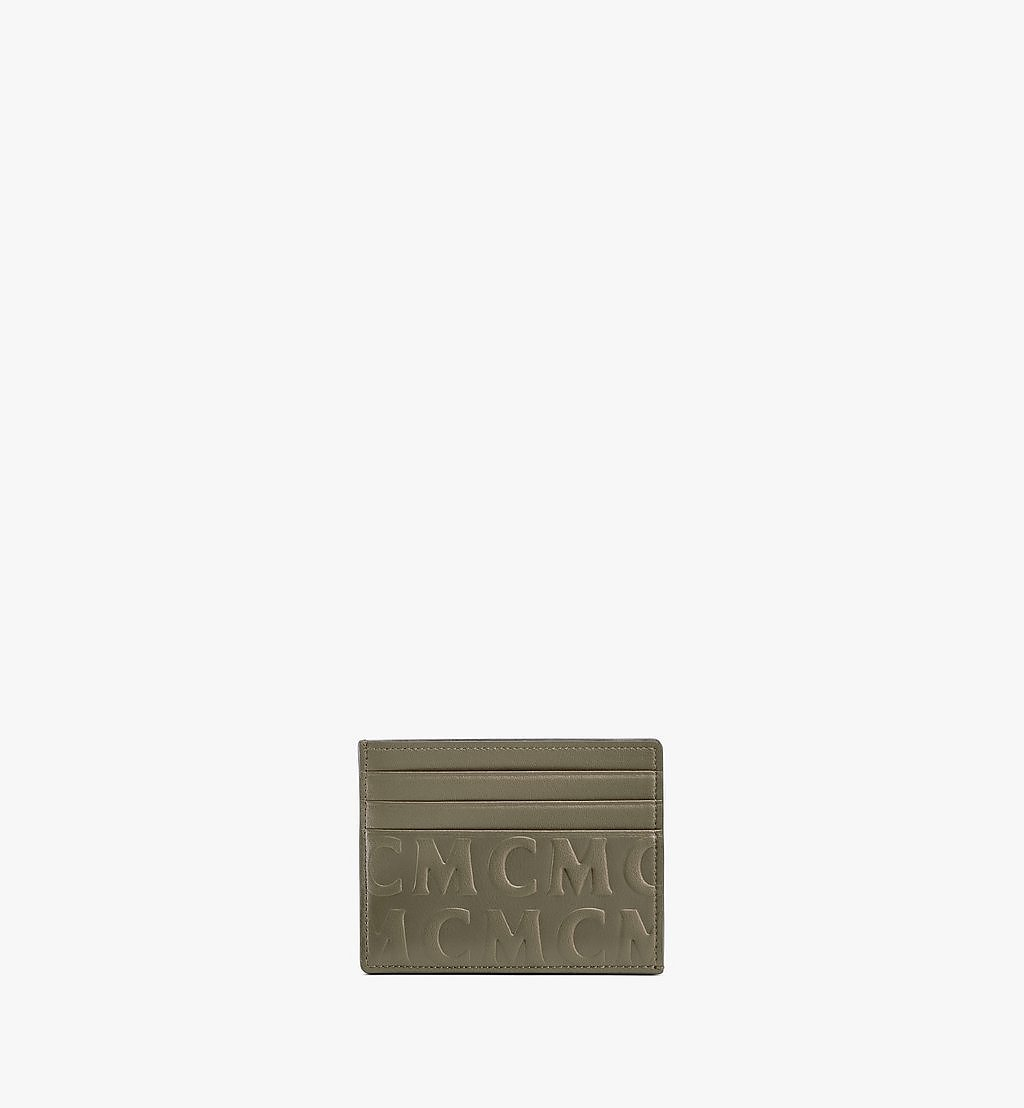 MCM Card Case in MCM Monogram Leather Green MXAAAMD01JH001 Alternate View 1
