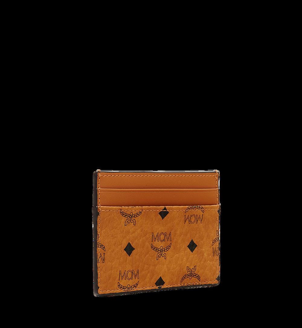 MCM Card Case in Visetos Original Cognac MXAAAVI01CO001 Alternate View 1