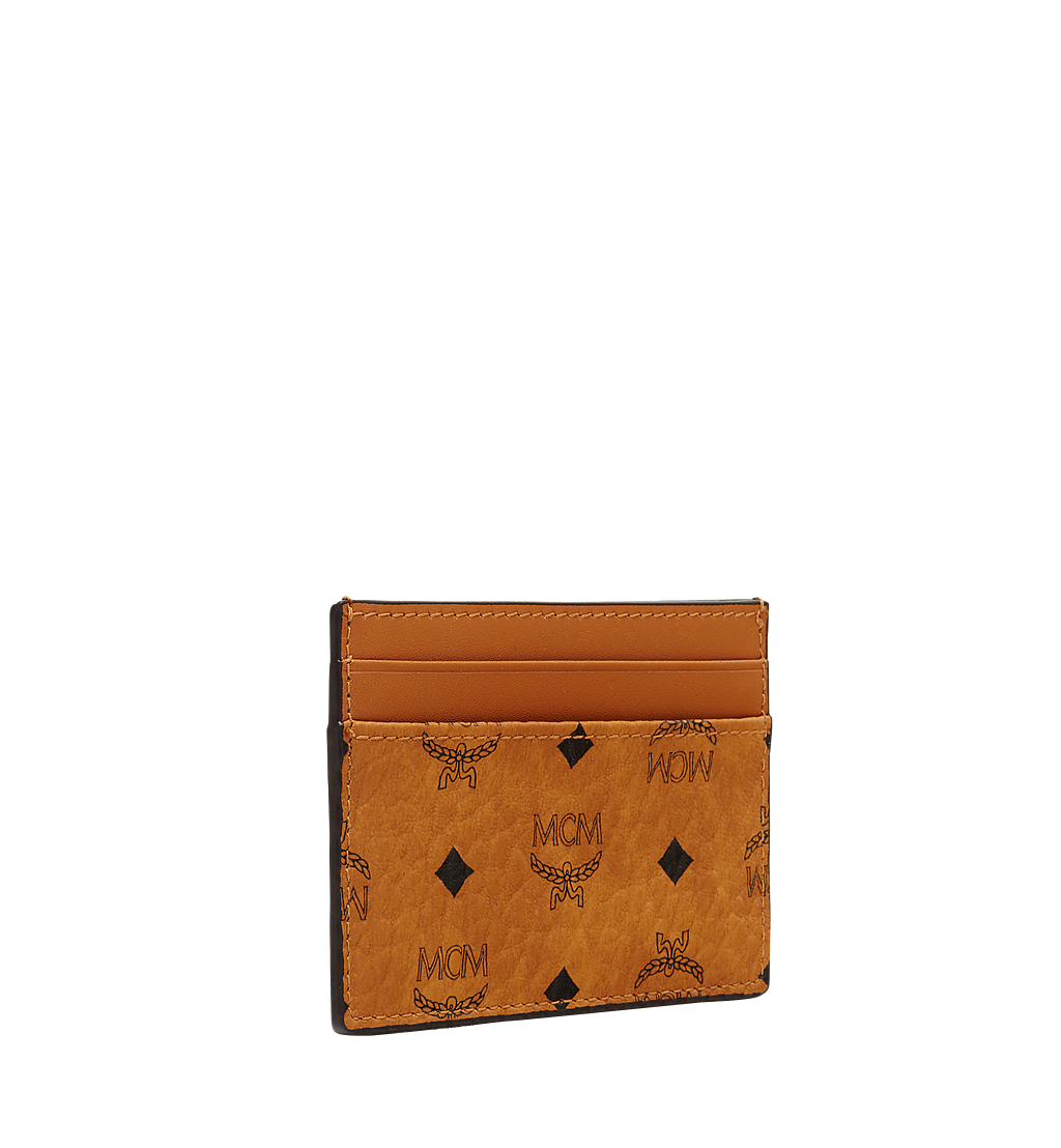 MCM Card Case in Visetos Original Cognac MXAAAVI01CO001 Alternate View 1