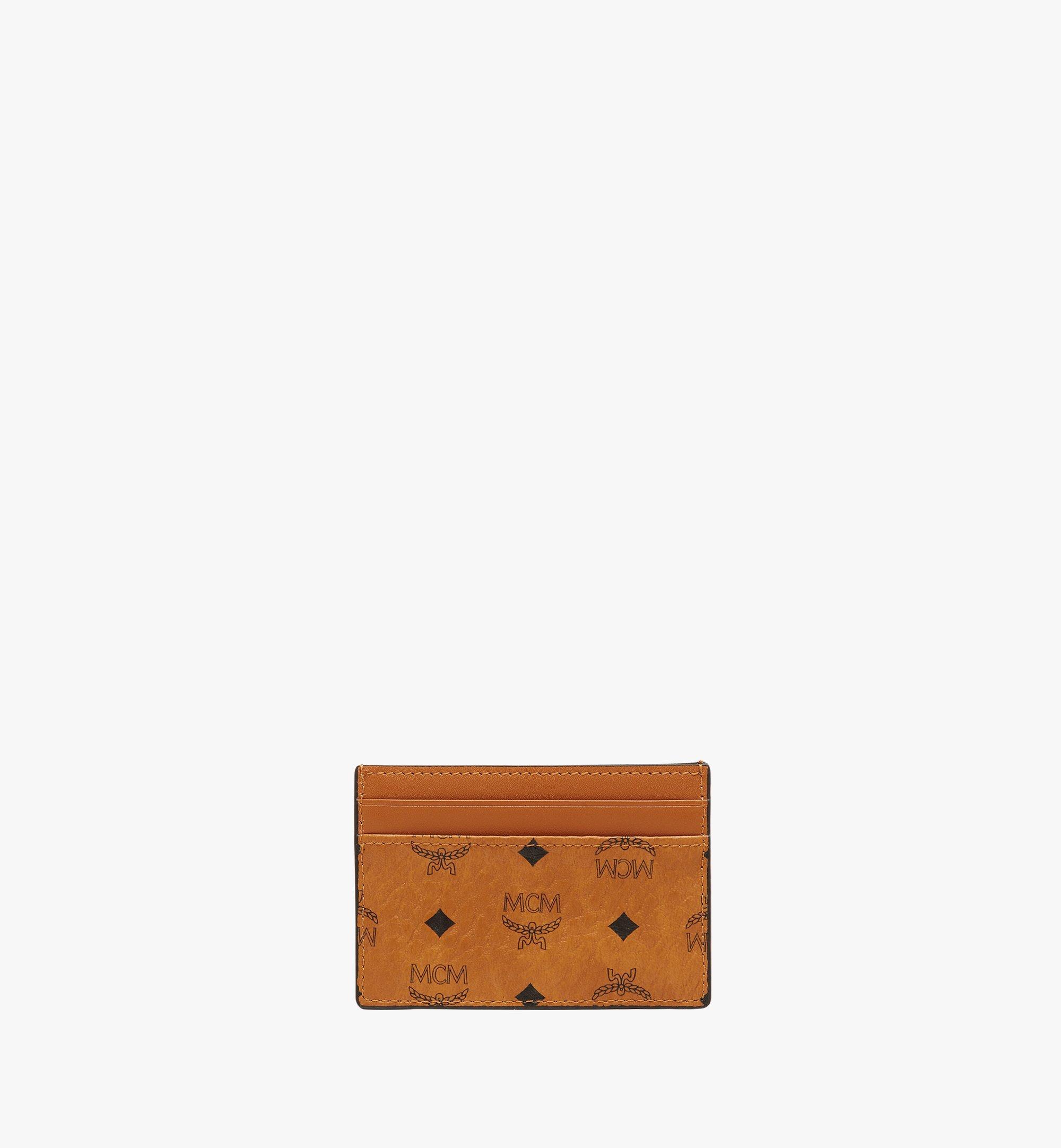 MCM Card Case in Visetos Original Cognac MXAAAVI01CO001 Alternate View 3
