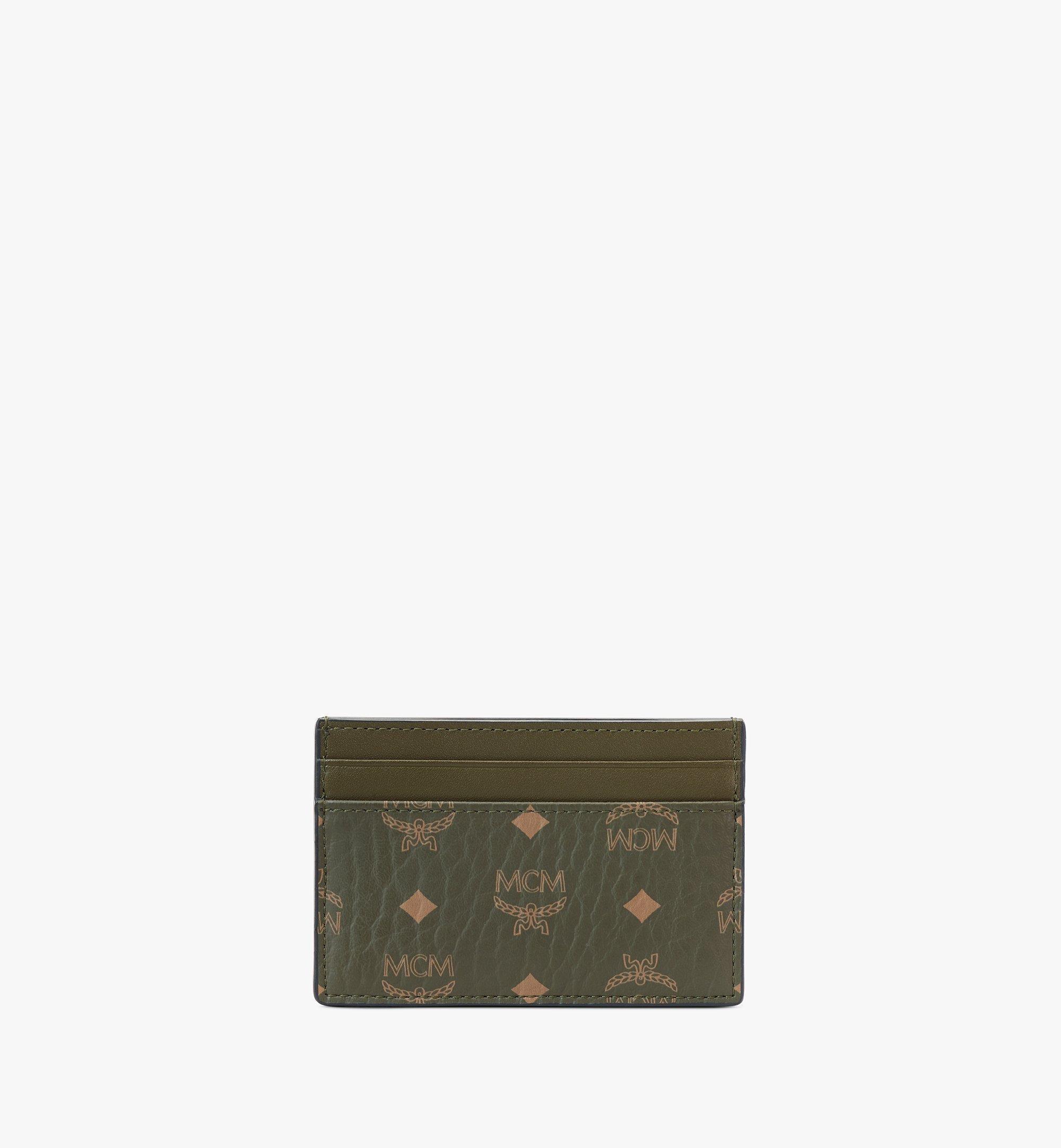 MCM Card Case in Visetos Original Green MXAAAVI01JH001 Alternate View 1