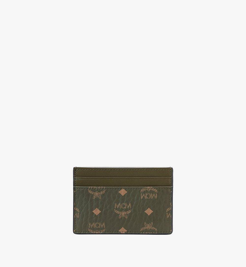 MCM Card Case in Visetos Original Green MXAAAVI01JH001 Alternate View 2