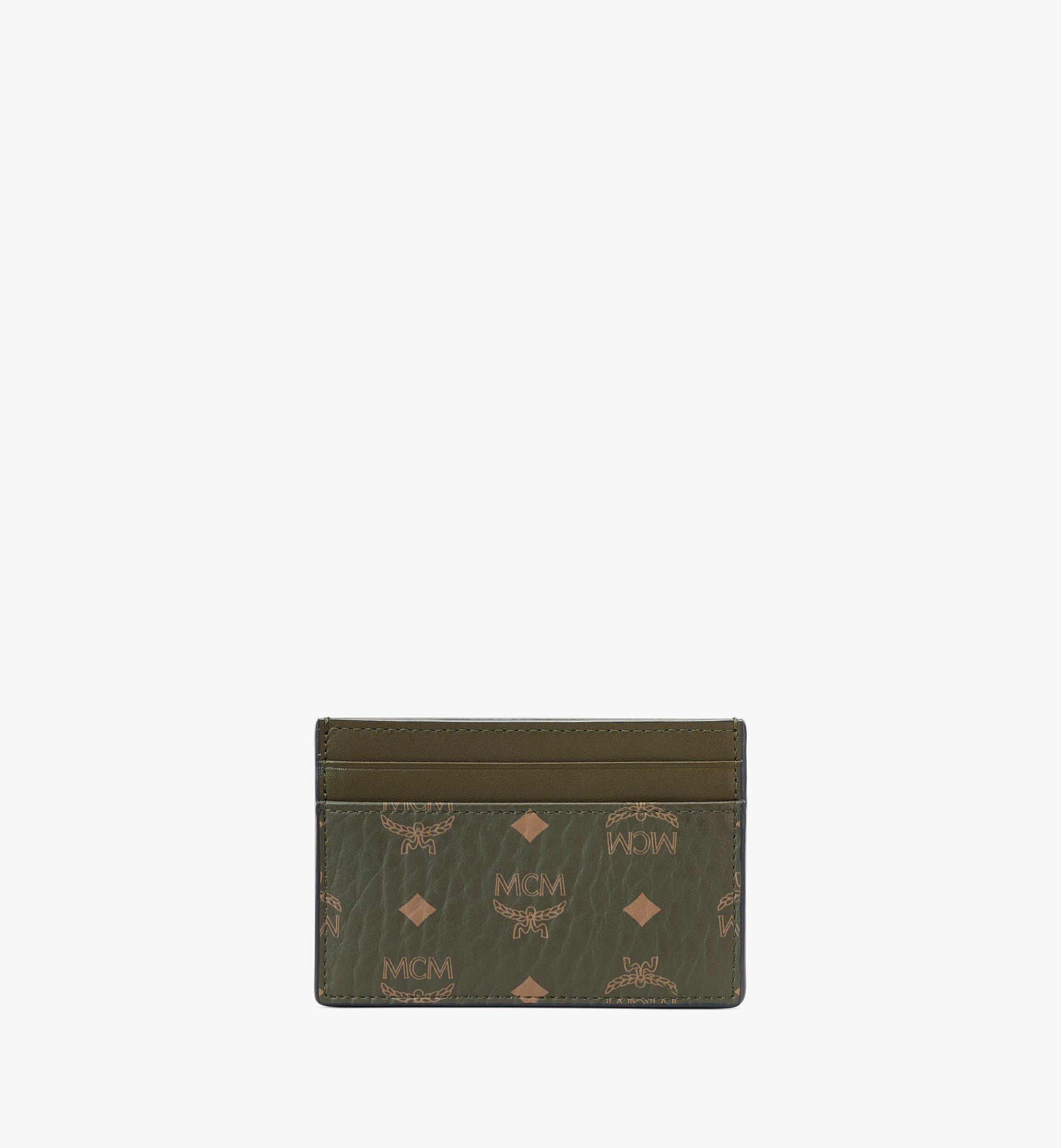 MCM Card Case in Visetos Original Green MXAAAVI01JH001 Alternate View 3
