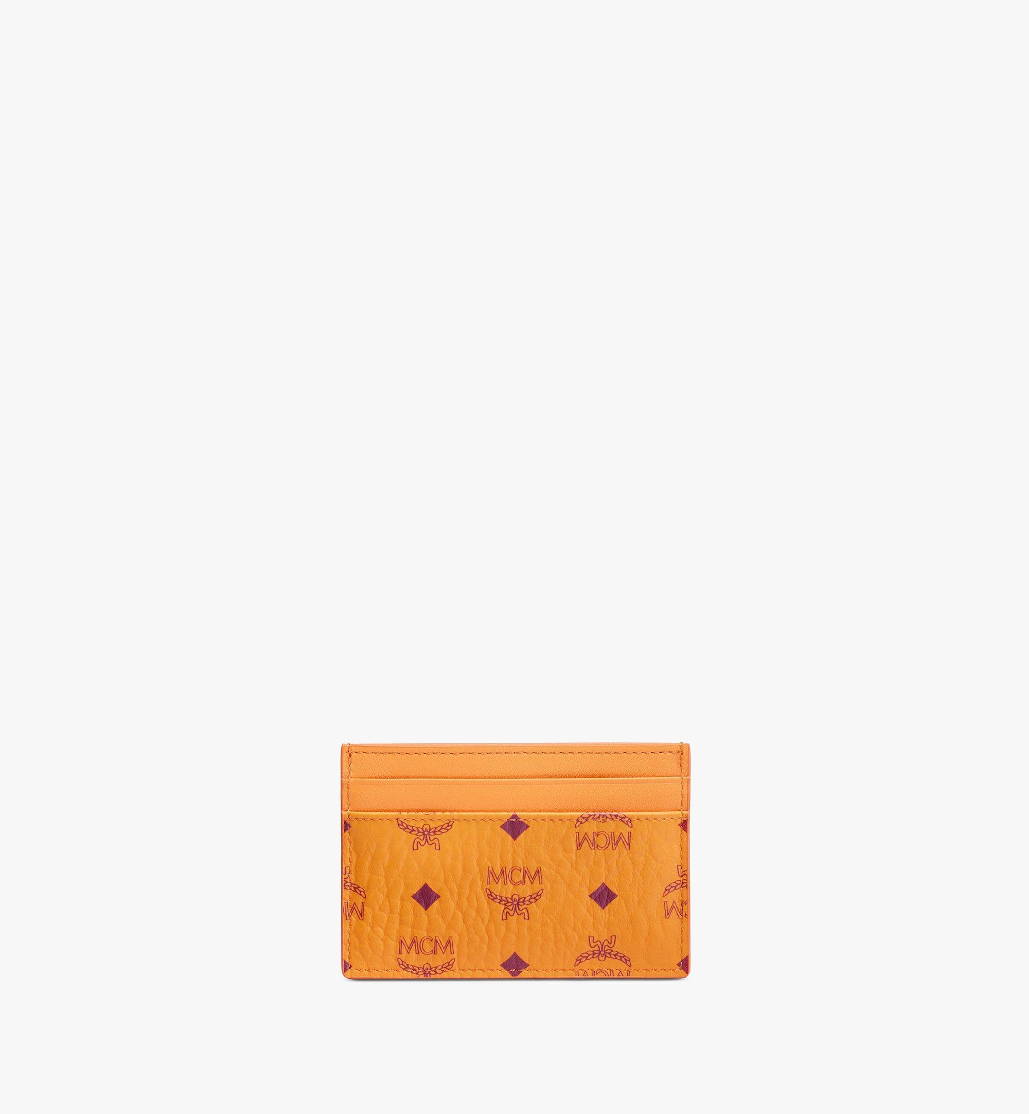 MCM Card Case in Visetos Original Orange MXAAAVI01O5001 Alternate View 1