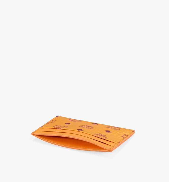 MCM Card Case in Visetos Original Orange MXAAAVI01O5001 Alternate View 2
