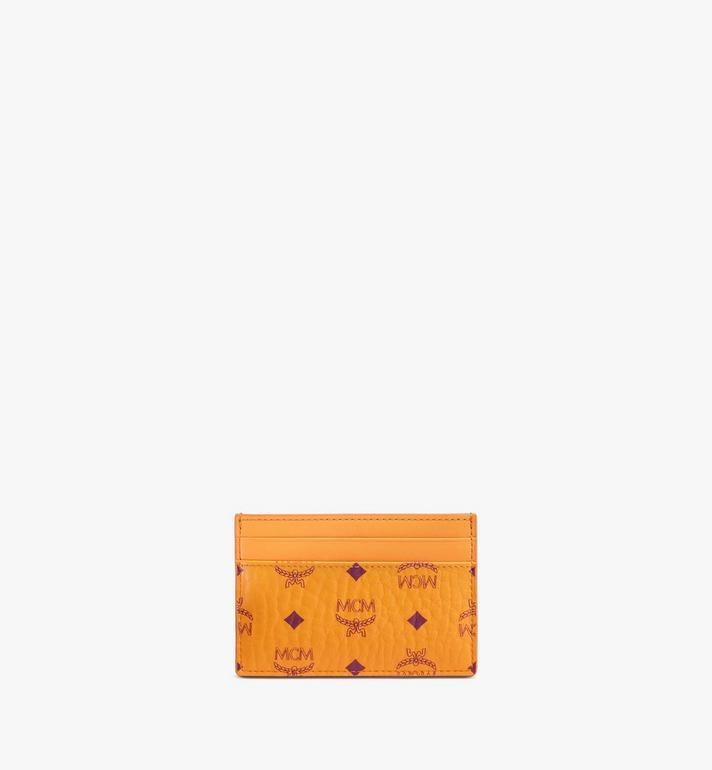 MCM Card Case in Visetos Original Orange MXAAAVI01O5001 Alternate View 3