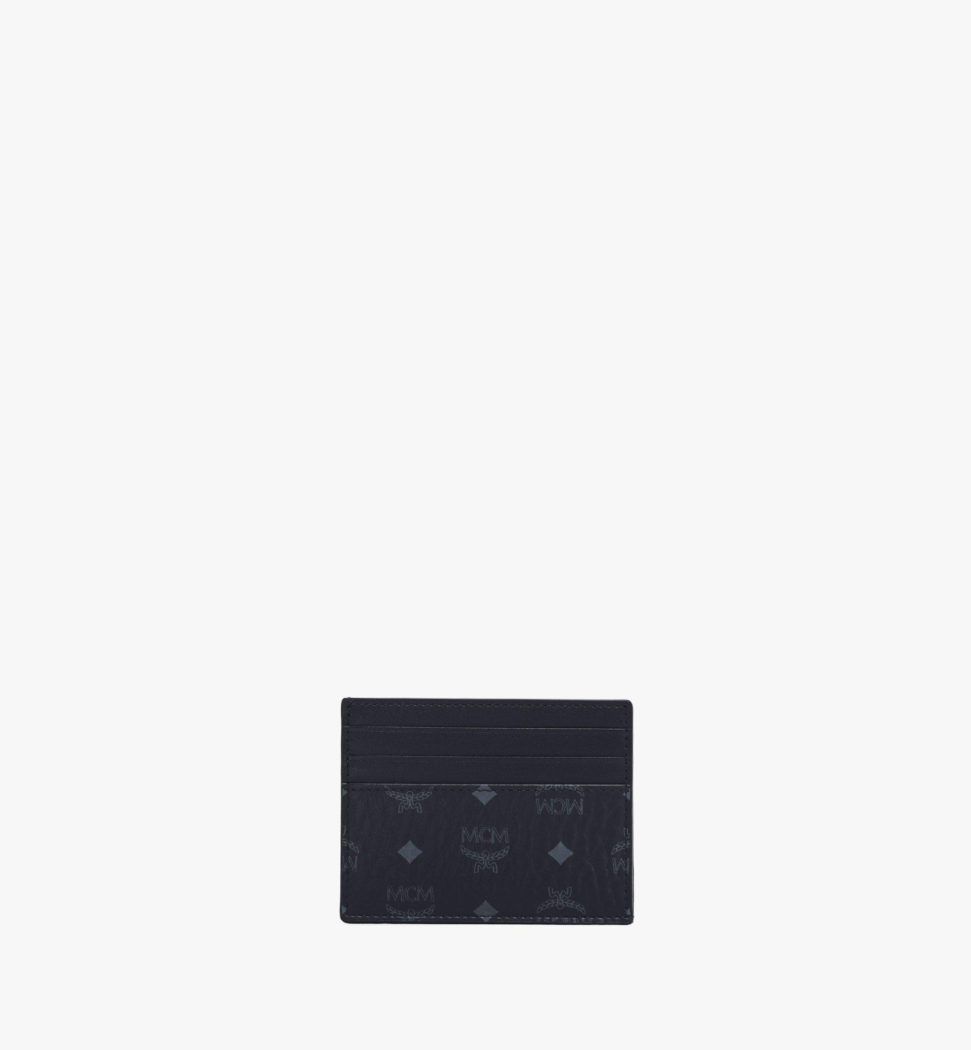MCM Card Case in Visetos Original Black MXAAAVI02BK001 Alternate View 1