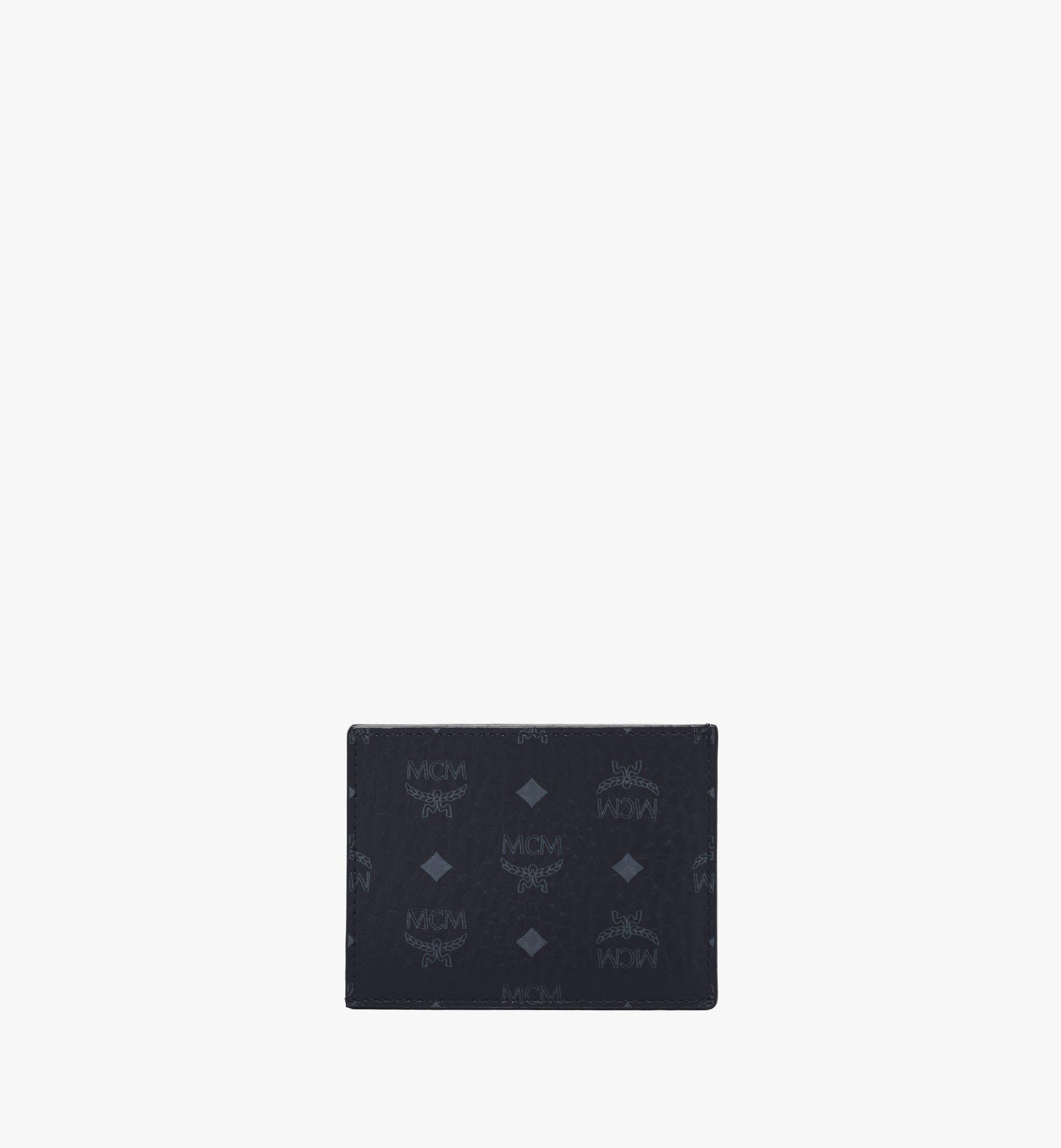 MCM Card Case in Visetos Original Black MXAAAVI02BK001 Alternate View 2