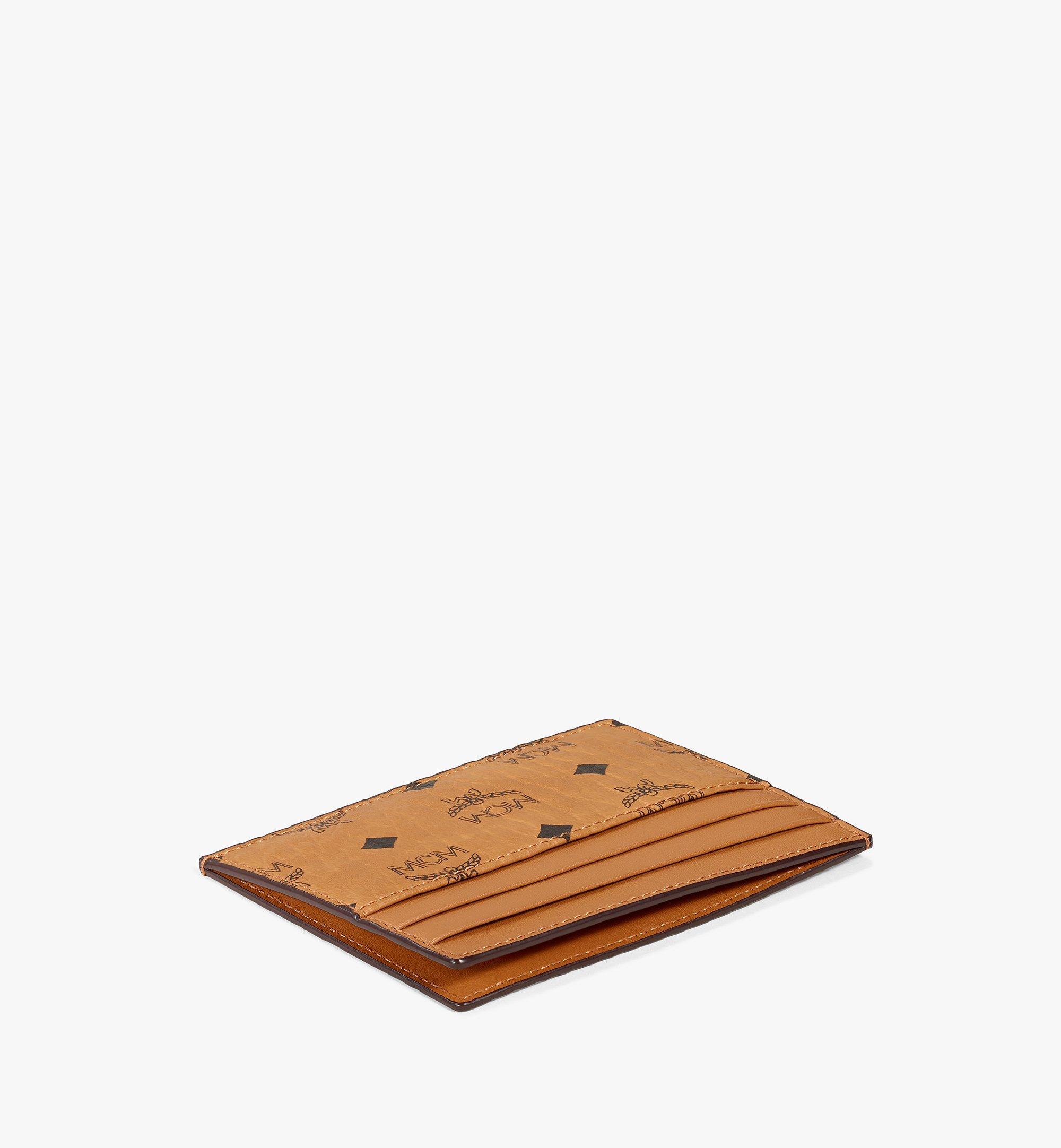 MCM Card Case in Visetos Original Cognac MXAAAVI02CO001 Alternate View 1