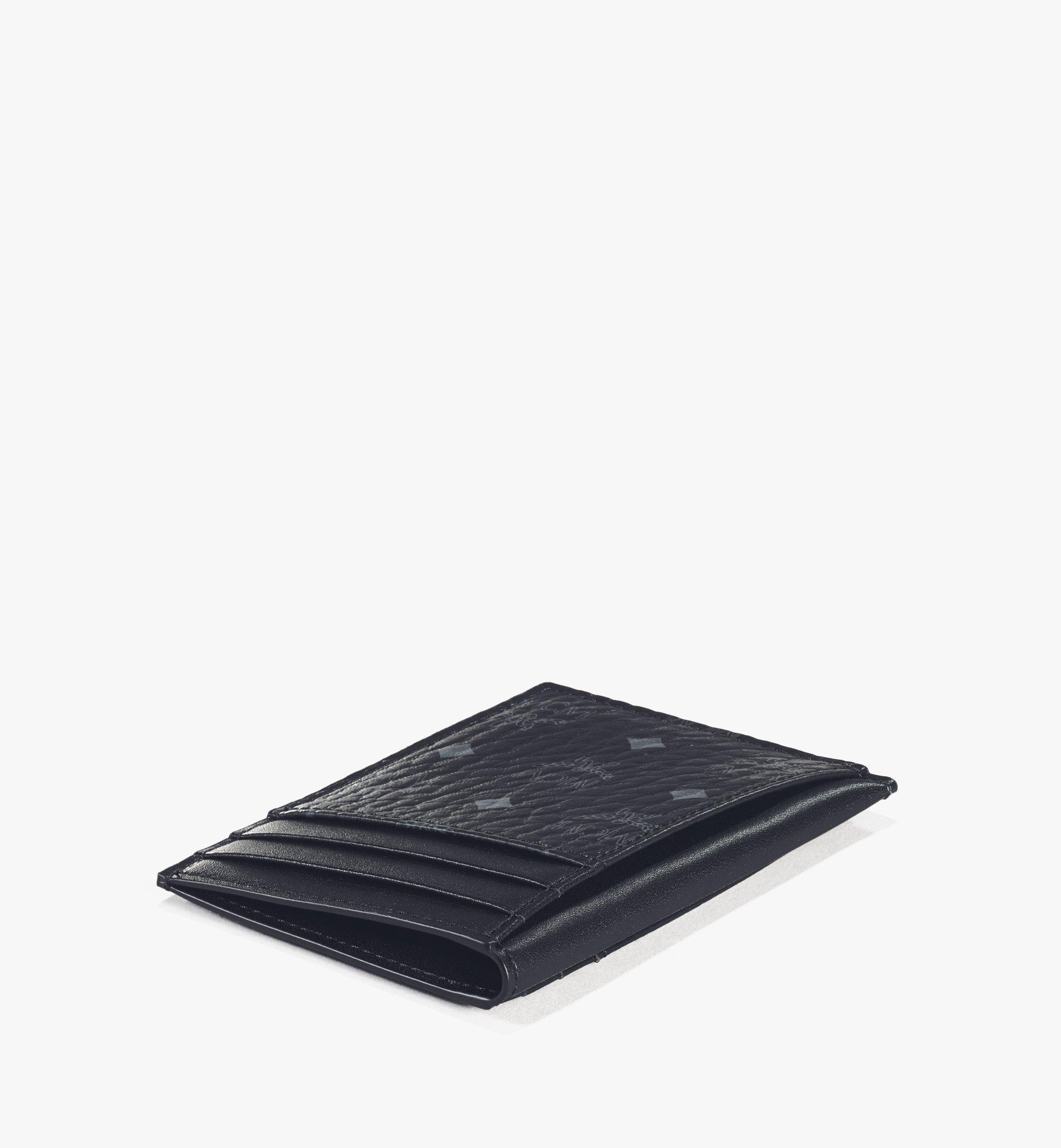 MCM N/S Card Case in Visetos Original Black MXAAAVI03BK001 Alternate View 2