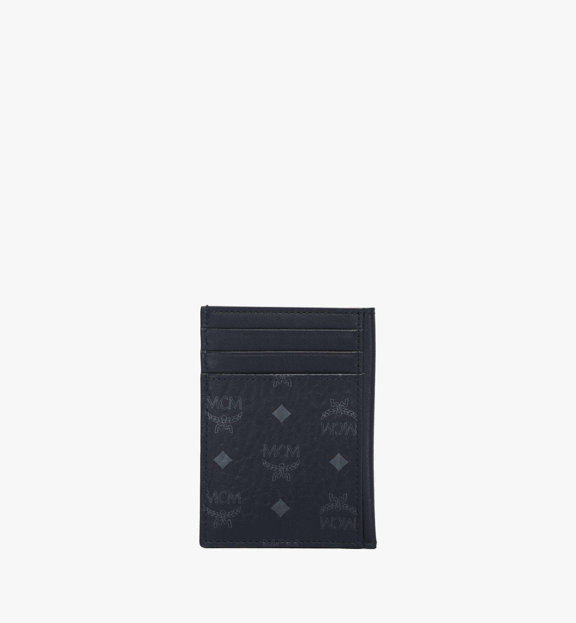 MCM N/S Card Case in Visetos Original Black MXAAAVI03BK001 Alternate View 3