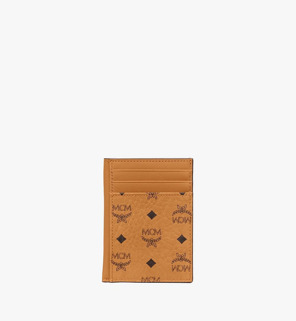 MCM N/S Card Case in Visetos Original Cognac MXAAAVI03CO001 Alternate View 1