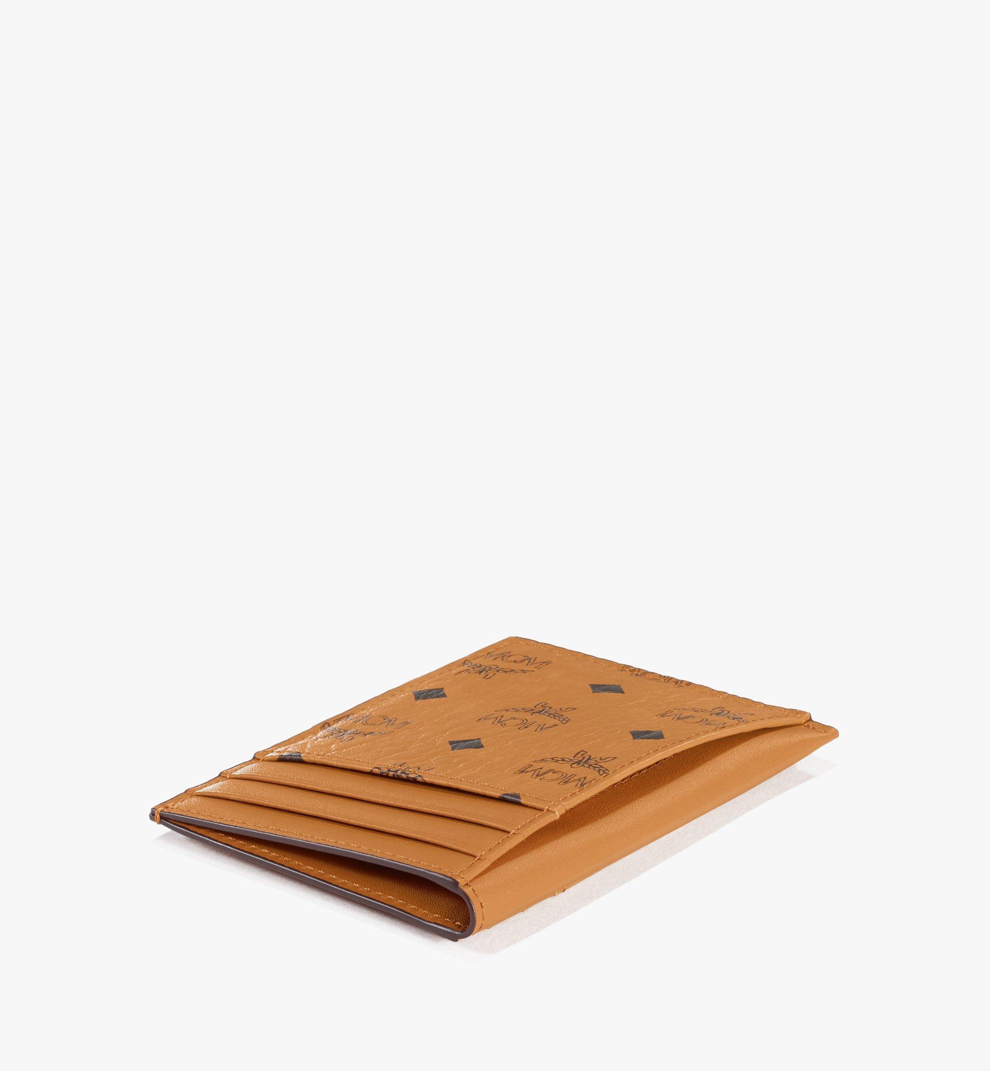 MCM N/S Card Case in Visetos Original Cognac MXAAAVI03CO001 Alternate View 2