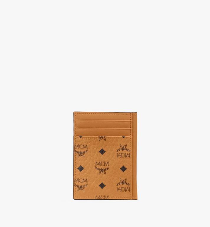 MCM N/S Card Case in Visetos Original Cognac MXAAAVI03CO001 Alternate View 3