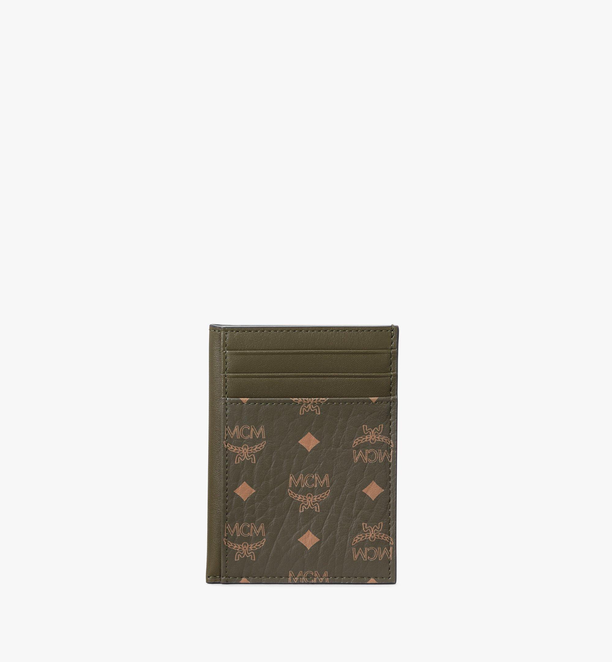 MCM Hochformatiges Kartenetui in Visetos Original Green MXAAAVI03JH001 Noch mehr sehen 1